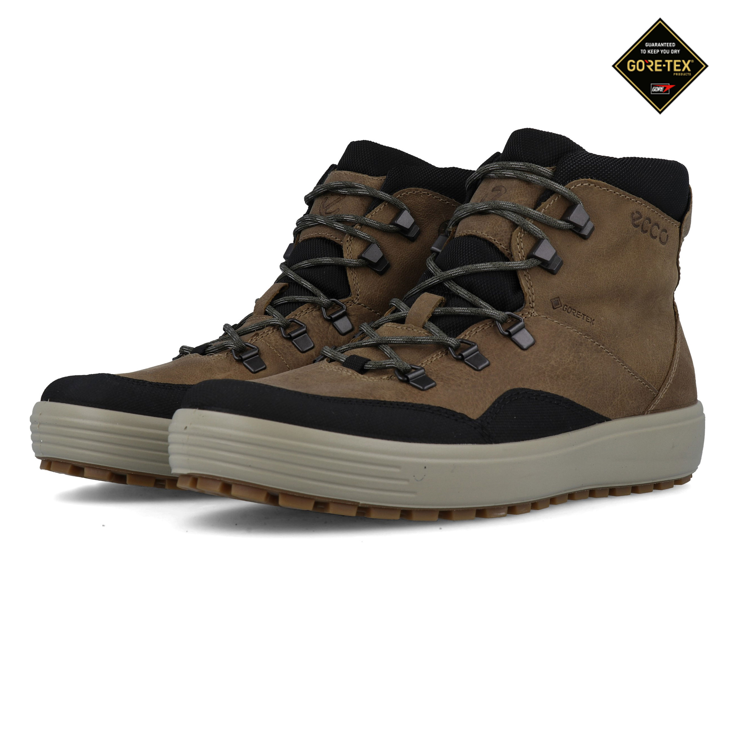 Ecco Mens Soft 7 Tred GORE-TEX Walking Boots Brown Sports Waterproof