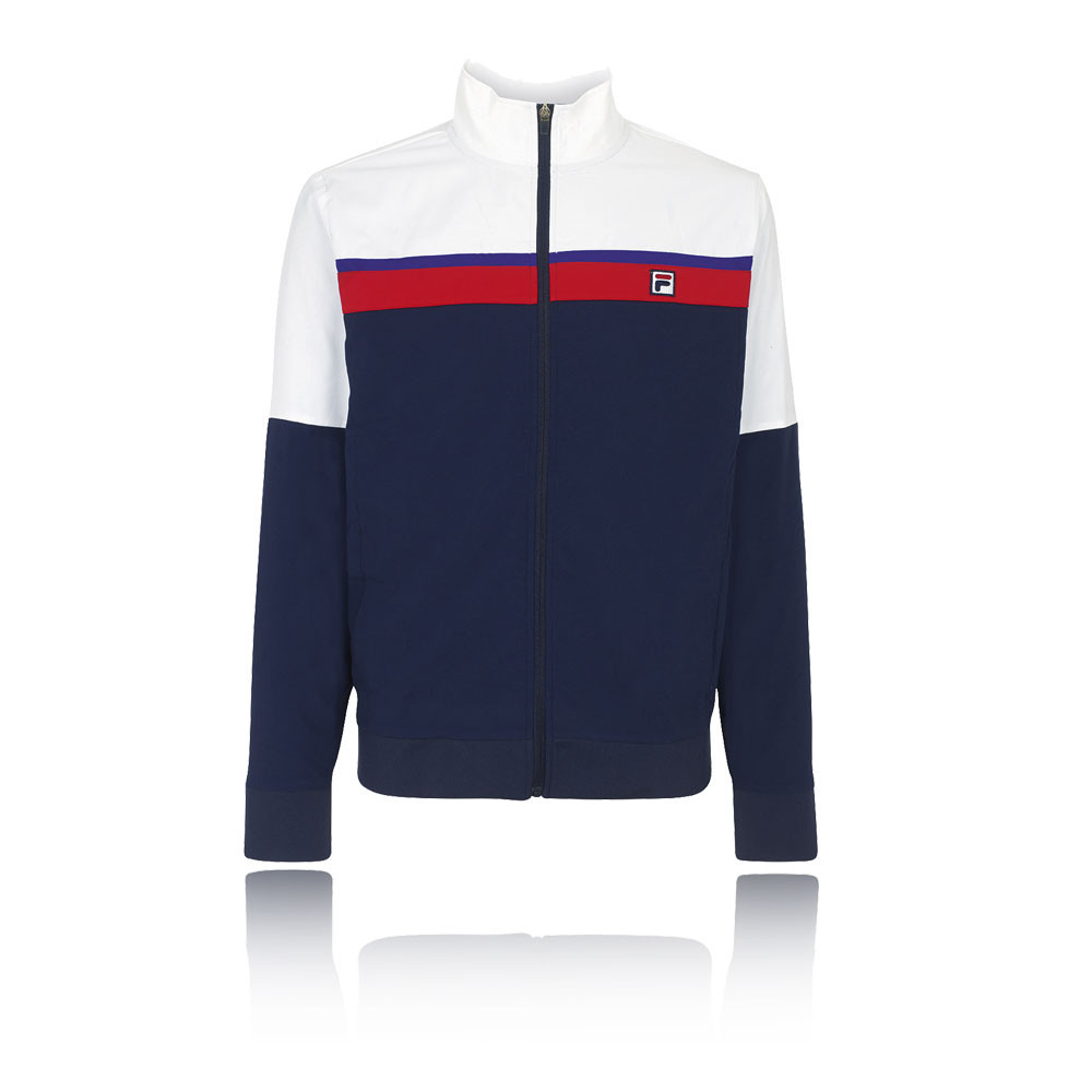 Details about Fila Mens Heritage Tennis Jacket Top Navy Blue White Sports  Full Zip Breathable