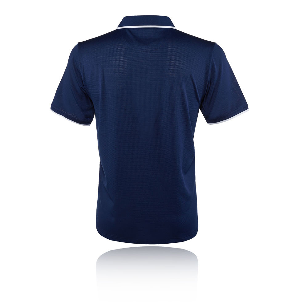 dce71b8f22a Details about Fila Mens Mesh Tennis Polo Shirt Navy Blue Sports Breathable  Lightweight