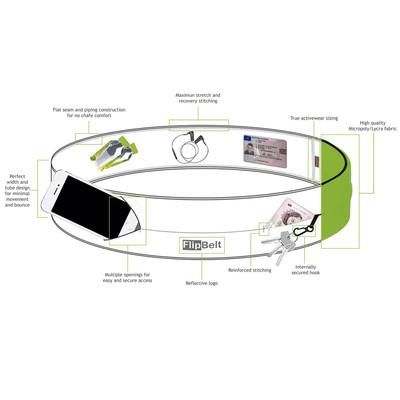 FlipBelt Zipper - Carbon - AW20