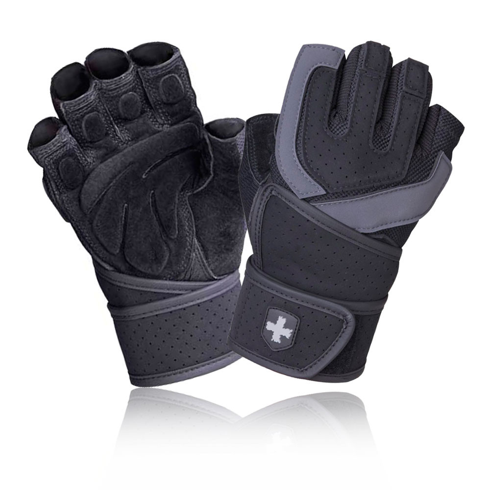 Head Multi Sport Gloves With Sensatec Black Large: Harbinger Training Grip Wristwrap Mens Womens Black