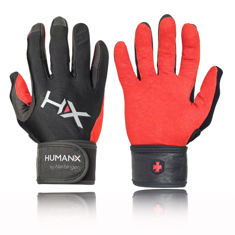 Head Multi Sport Gloves With Sensatec Black Large: Harbinger X3 Competition Mens Womens Black Red Full Finger