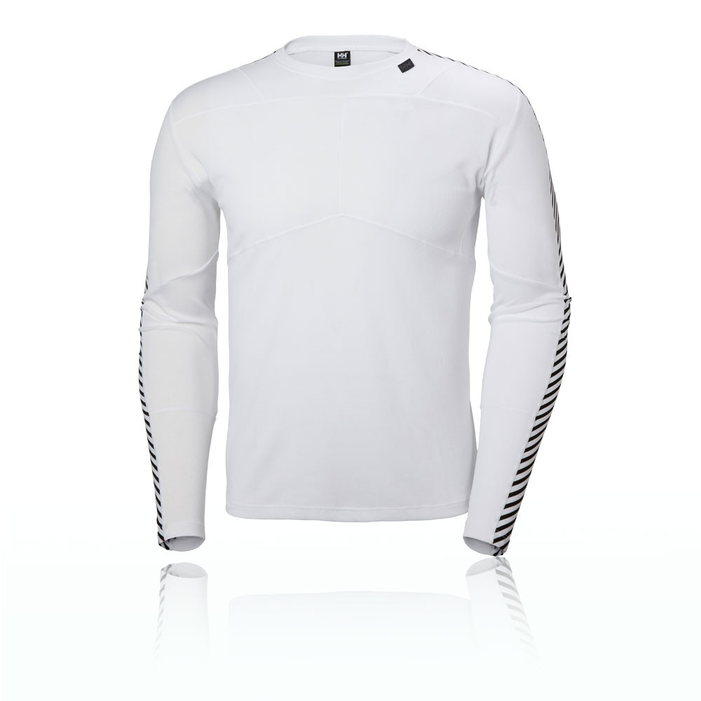 c0fd7104753 Details about Helly Hansen HH Lifa Mens White Long Sleeve Crew Neck Running  Sports Top