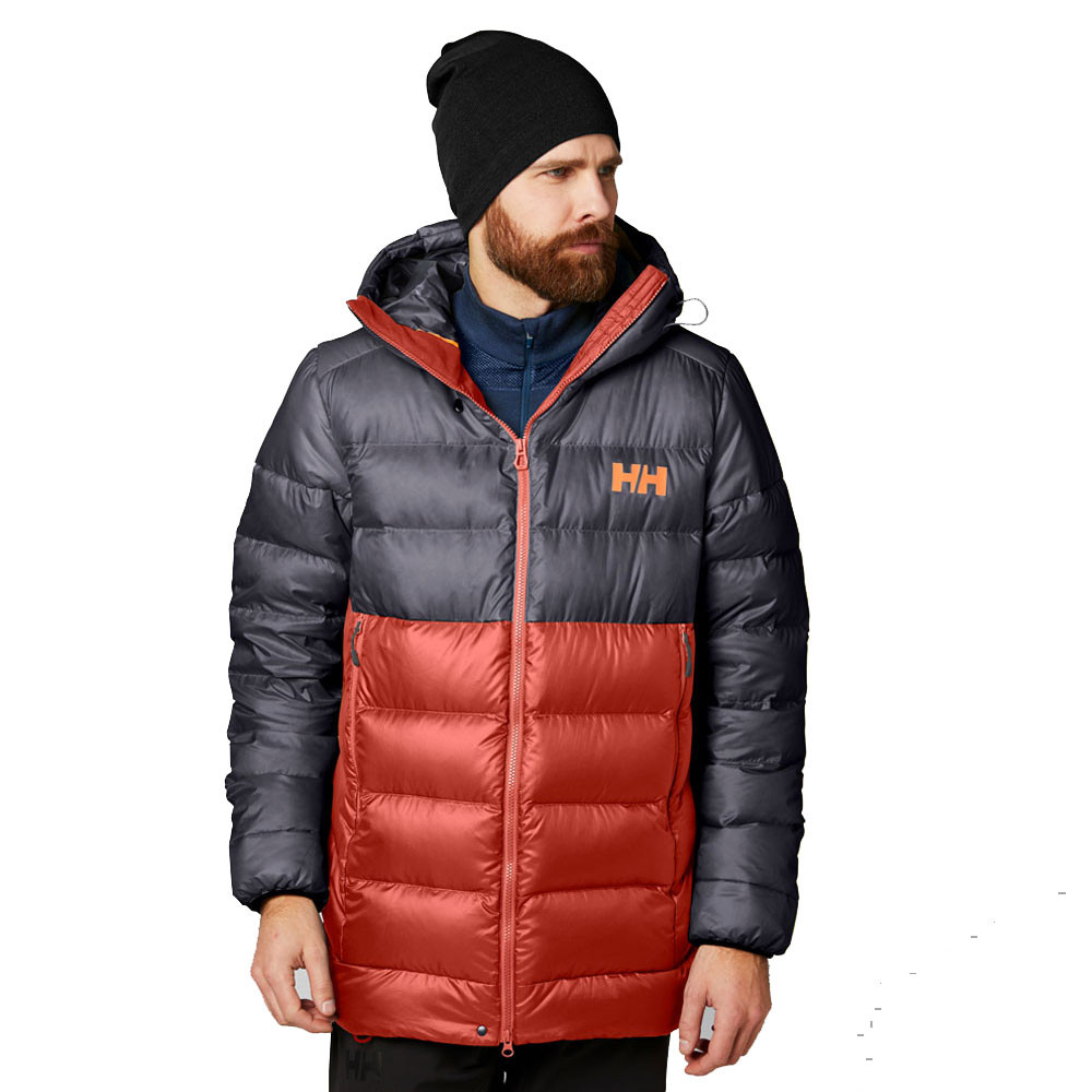 eca75239cf Details about Helly Hansen Mens Vanir Glacier Down Jacket Top Navy Blue Red  Sports Outdoors