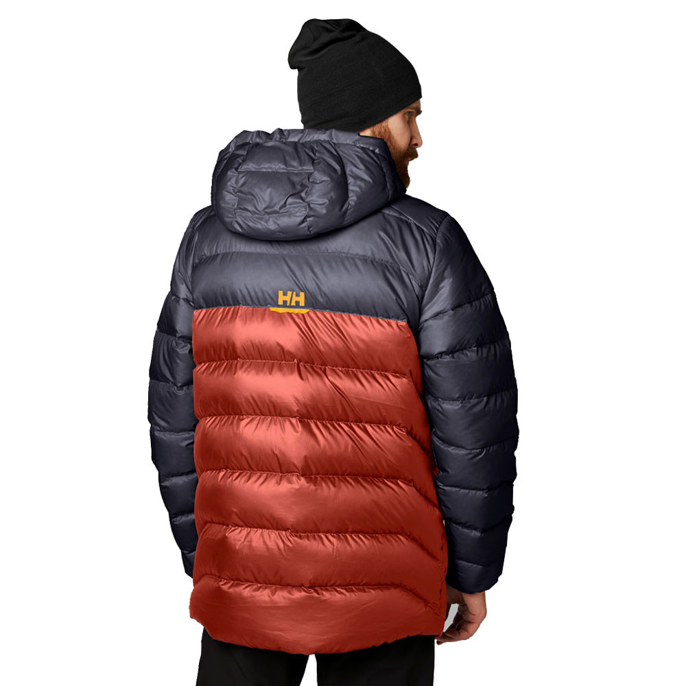d9b93fdef Details about Helly Hansen Mens Vanir Glacier Down Jacket Top Navy Blue Red  Sports Outdoors