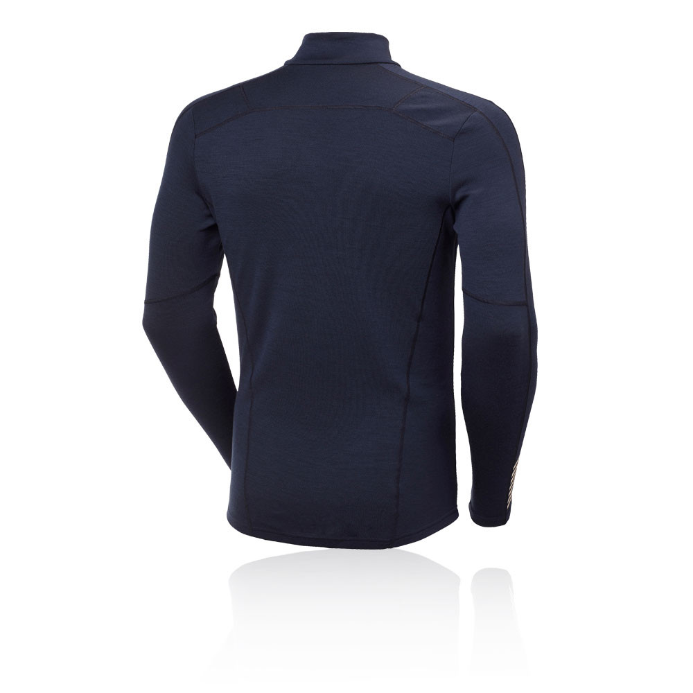 Helly Hansen Mens HH Merino Light Baselayer Top Blue Sports Outdoors Warm
