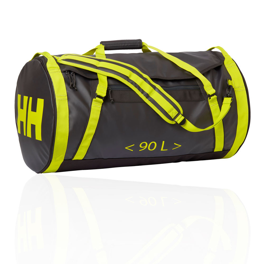 Details About Y Hansen Uni Duffel Bag 2 90l Black Yellow Sports Water Resistant