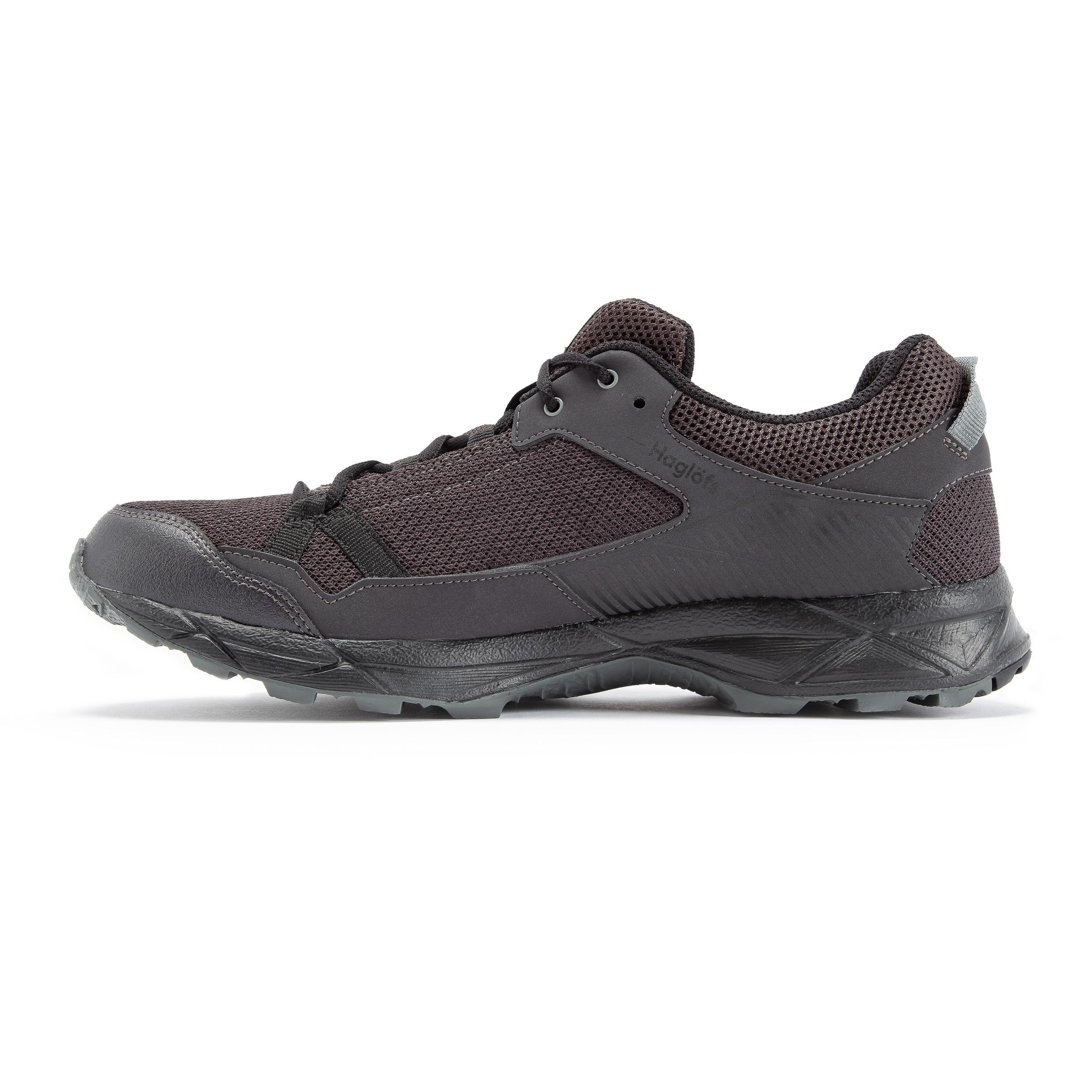 miniature 41 - Haglofs Mens Trail Fusible Chaussures de marche-Noir Sport Extérieur Respirant