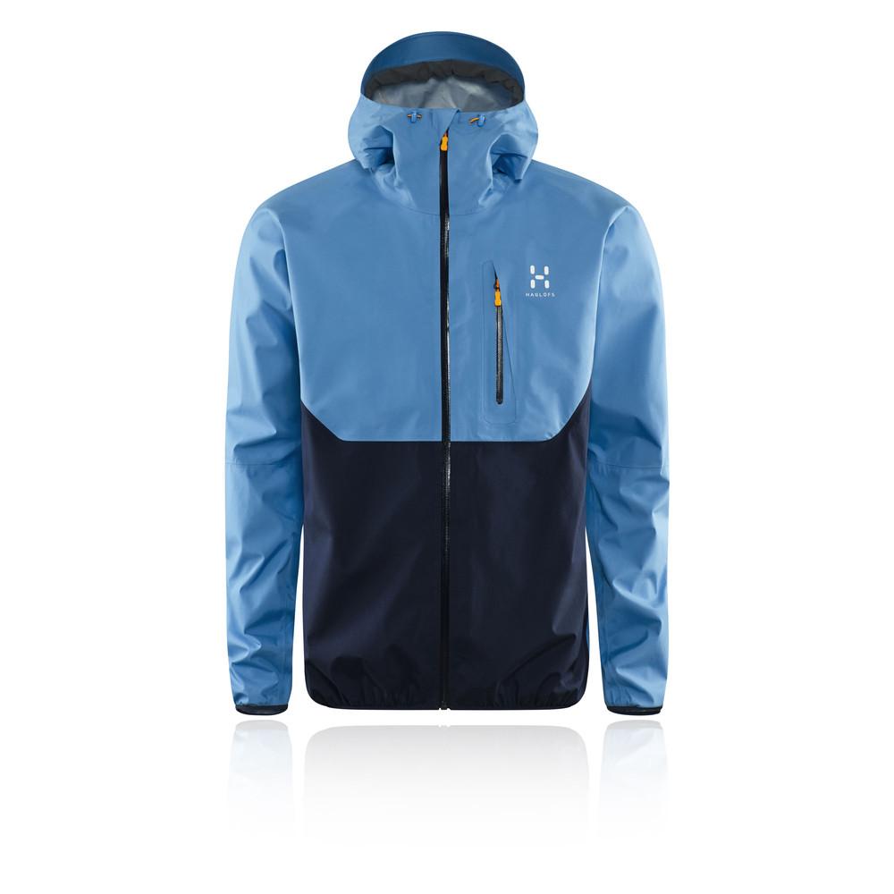 Haglofs Gram Comp Mens Blue Waterproof Long Sleeve Zip