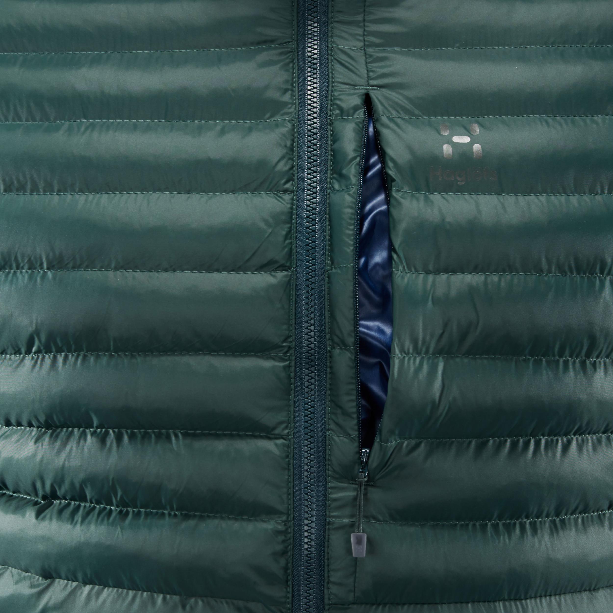090d2a04ae Dettagli su Haglofs Uomo Essens Mimic Giacca Con Cappuccio Zip Blu Verde  Sport Outdoor