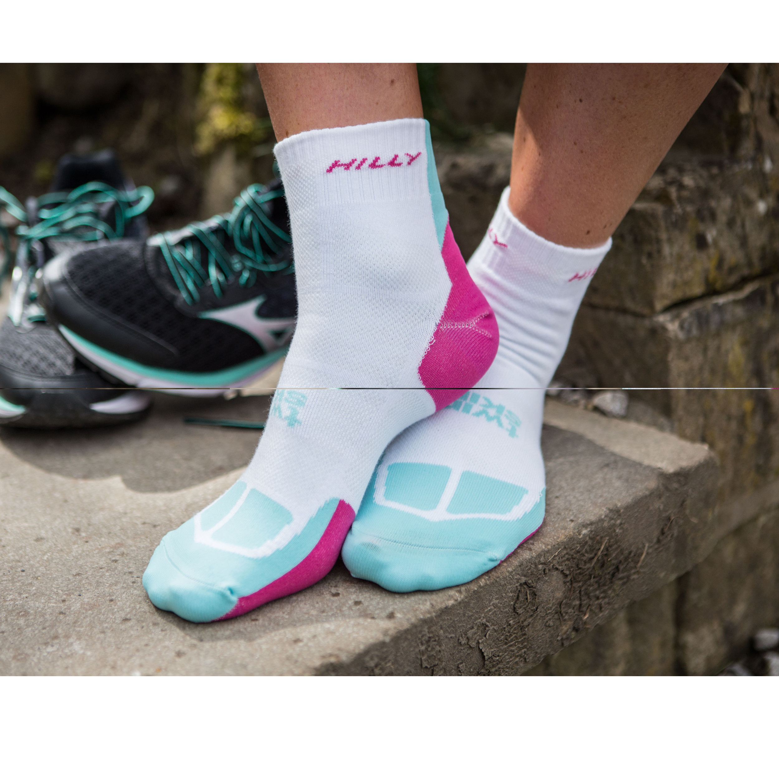 Hilly Twin Skin Womens Running Training Anklet Trainer Sports Micro Socks