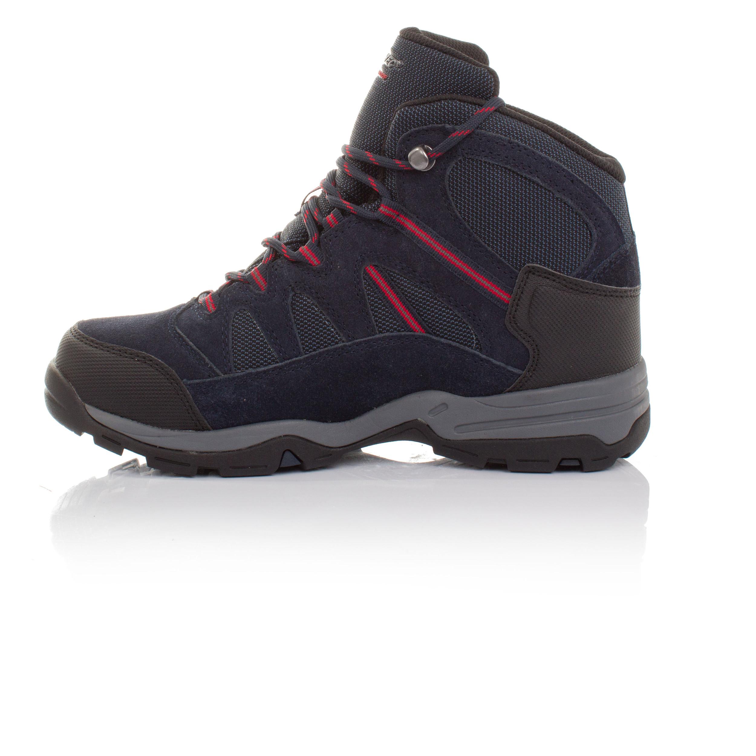Hi-Tec-Bandera-II-Mid-WP-Hombre-Azul-Impermeable-Camino-Hiking-Botas-Zapatos