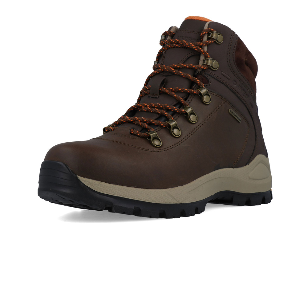 1282c7b04ed Details about Hi-Tec Mens Altitude Alpyna I Waterproof Walking Shoes Brown  Sports Outdoors