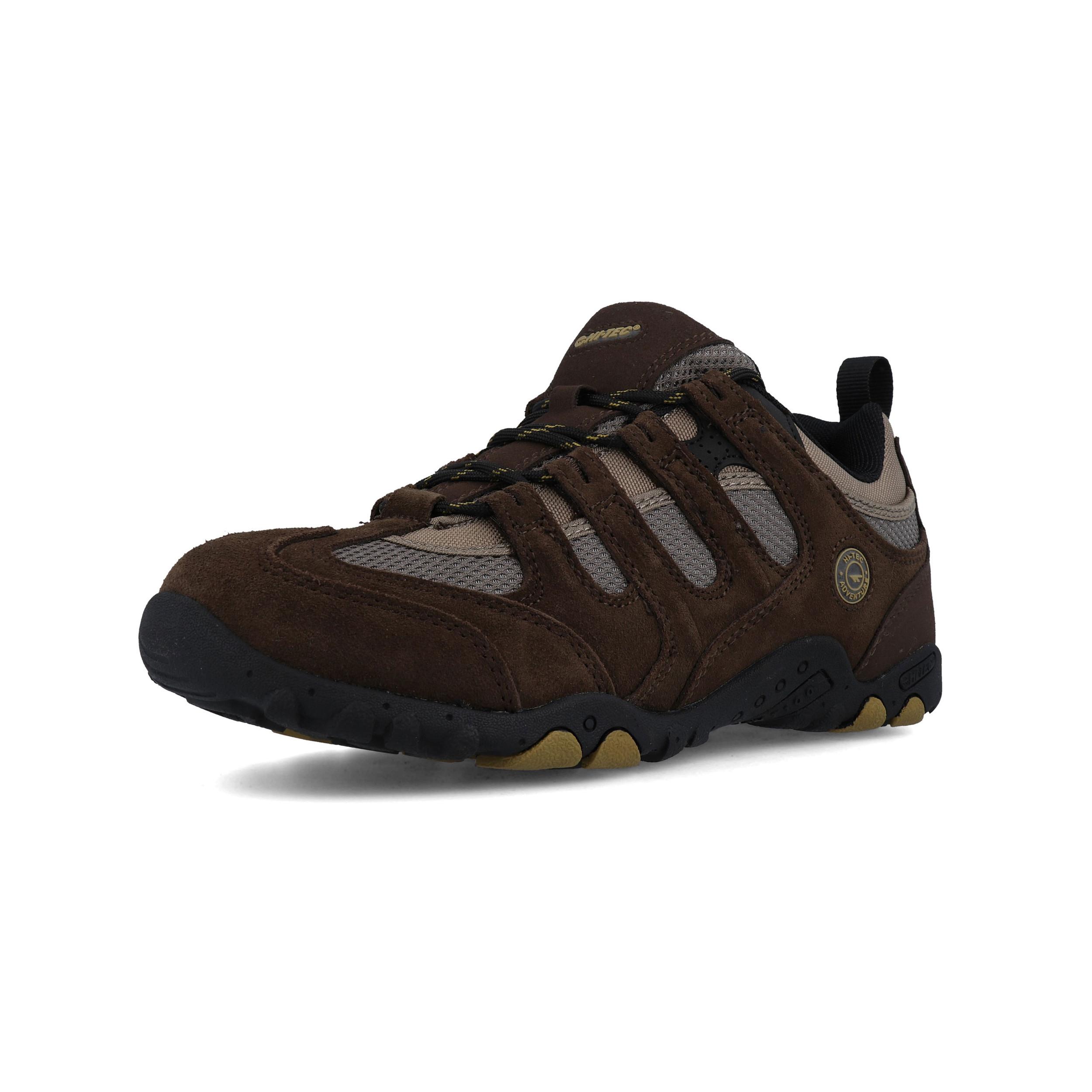 Hi-Tec Mens Quadra Classic Walking Shoes Brown Sports Outdoors Breathable Suede