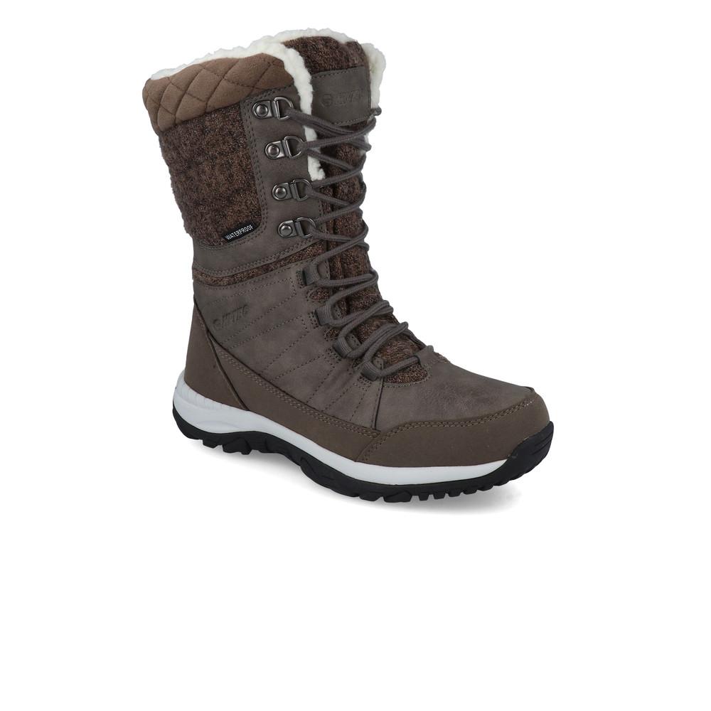 Hi-Tec Womens Riva Mid WP Walking Boots Brown Sports Outdoors Warm Waterproof