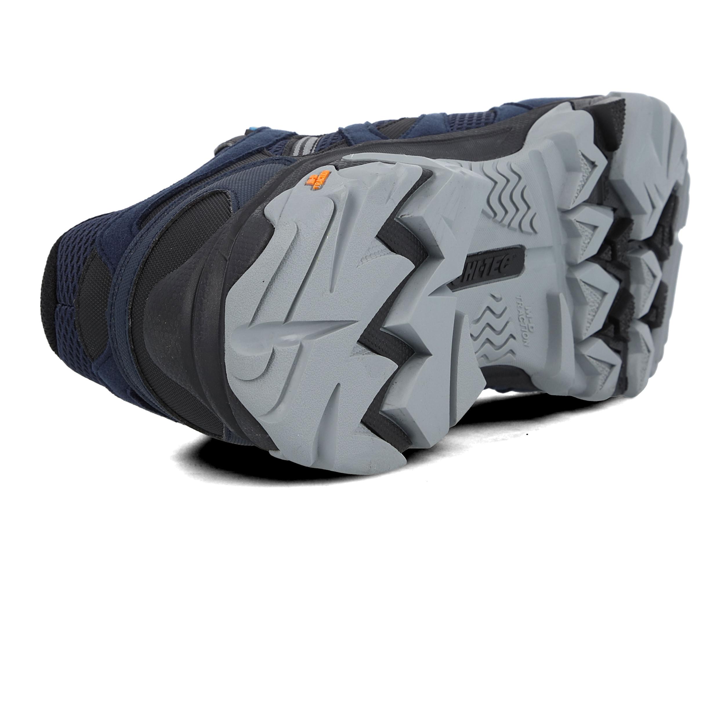 Hi Tec Mens Ravus Vent Lite Mid Impermeable Zapatos Para Caminar Azul Marino Deportes Ebay