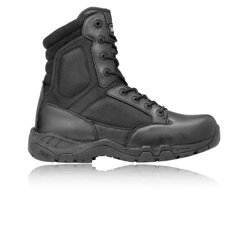 Detalles de Magnum Viper Pro 8.0 Hombres Botas Piel Cuero Zapatos Deportivos Calzado Negro