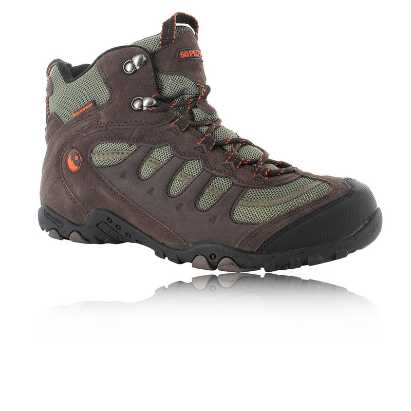 81208fdb946fa Details about Hi-Tec Mens Penrith Brown Mid Waterproof Trail Hiking Walking  Boots Shoes New