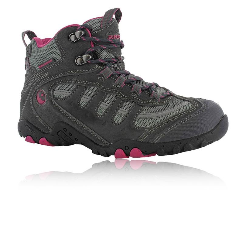Hi-Tec Penrith Mid Botas Mujer Rosa Impermeable Senderismo Deportivas Zapatos