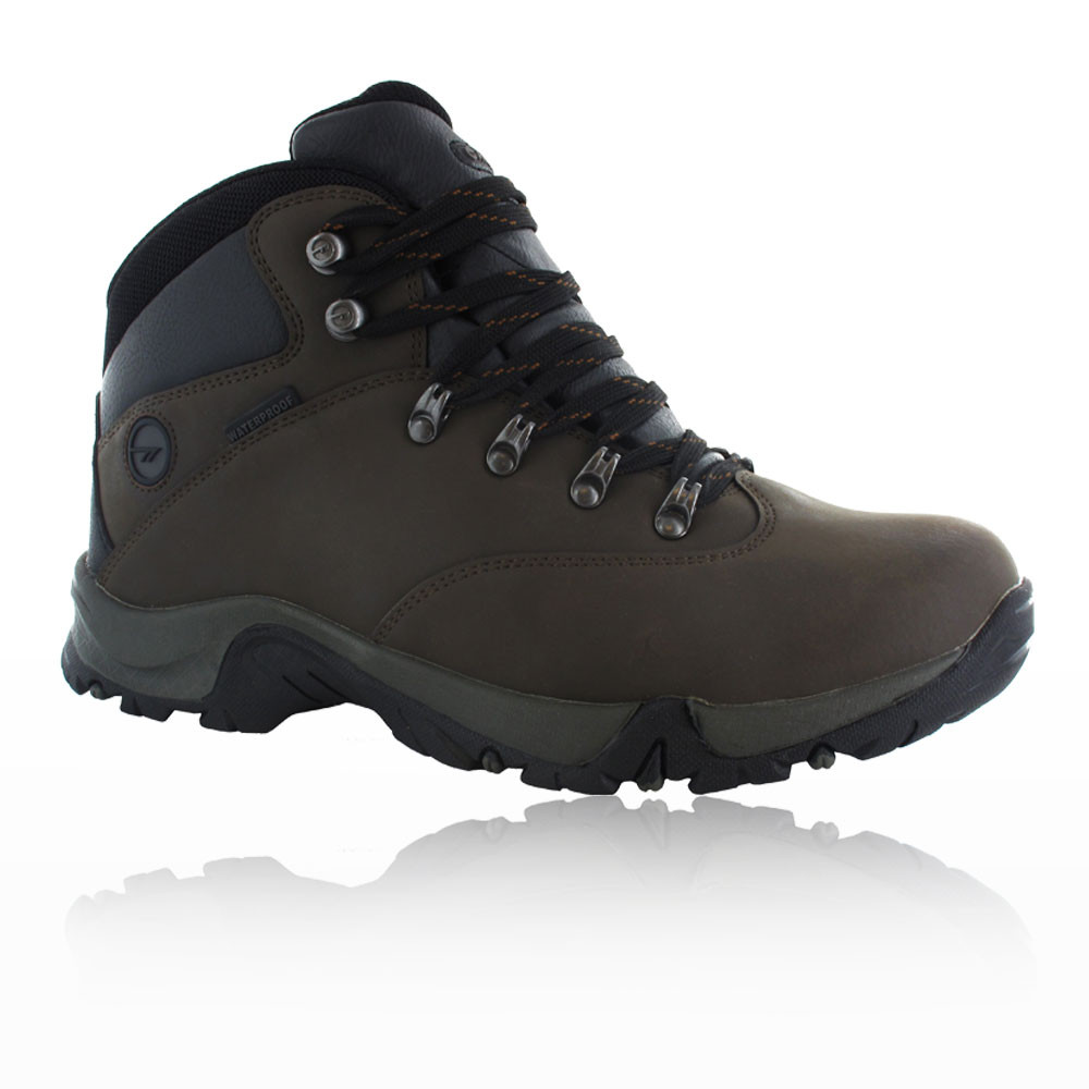 Hi-Tec Ottawa II Womens Black Brown Waterproof Trail Walking Hiking Boots Shoes