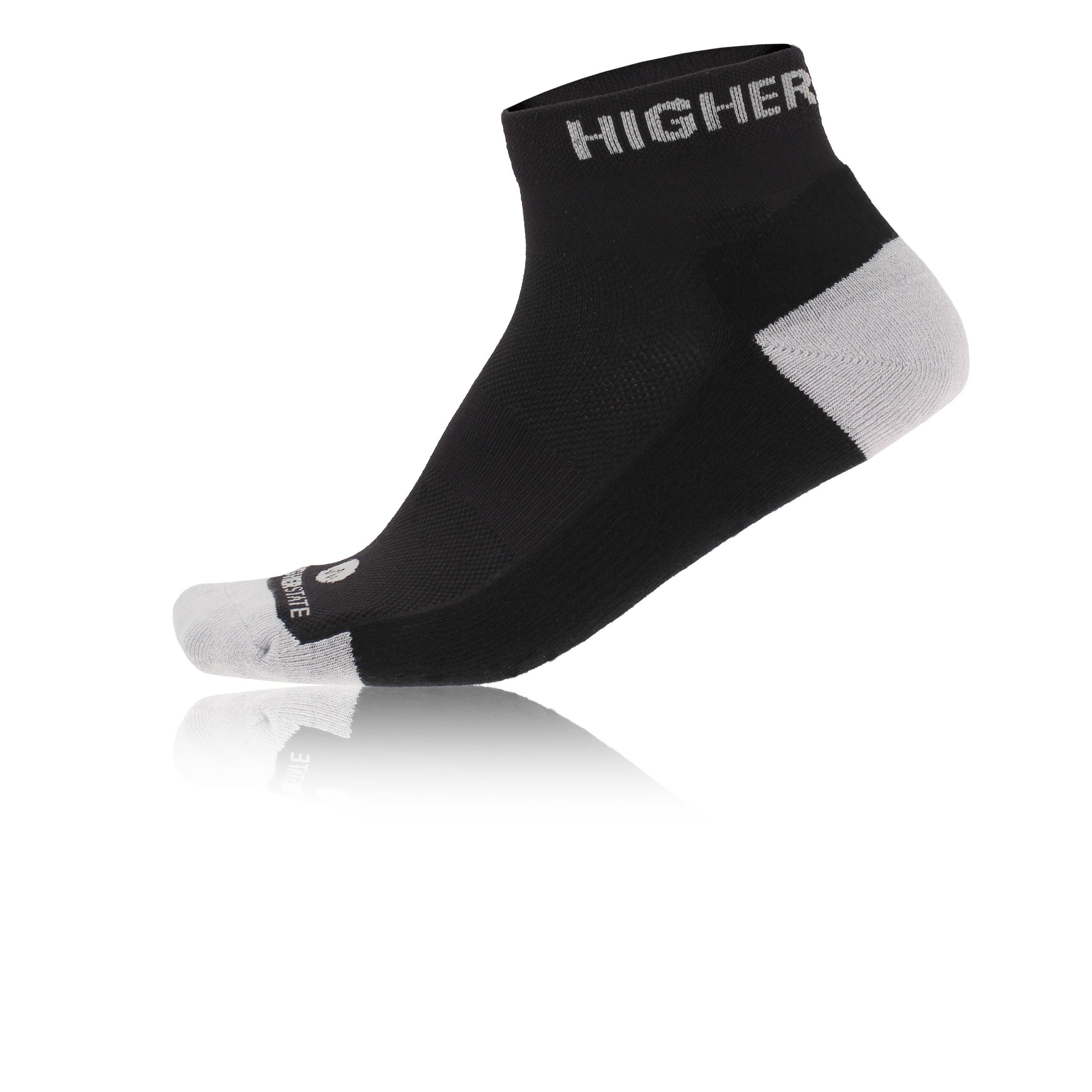 Higher State Mens 6 Freedom Lite Pack Mens Black Trainer Socks 6 Pack