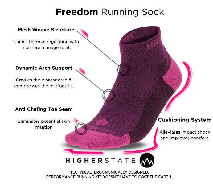 Higherstate Freedom Women's Running Sock 3 Pack
