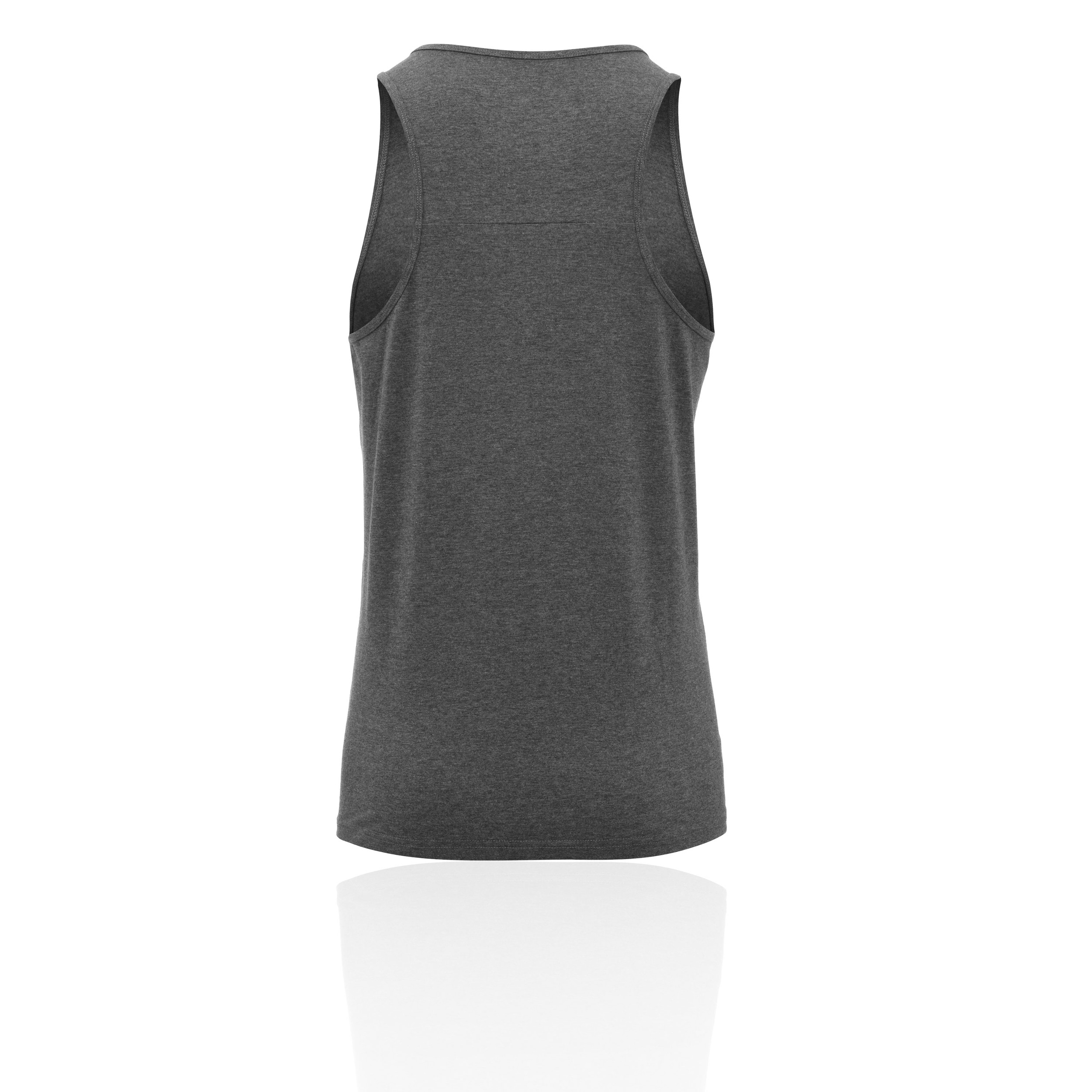Higher State Mens Training Gym Fitness Singlet Grey Sports Running Breathable