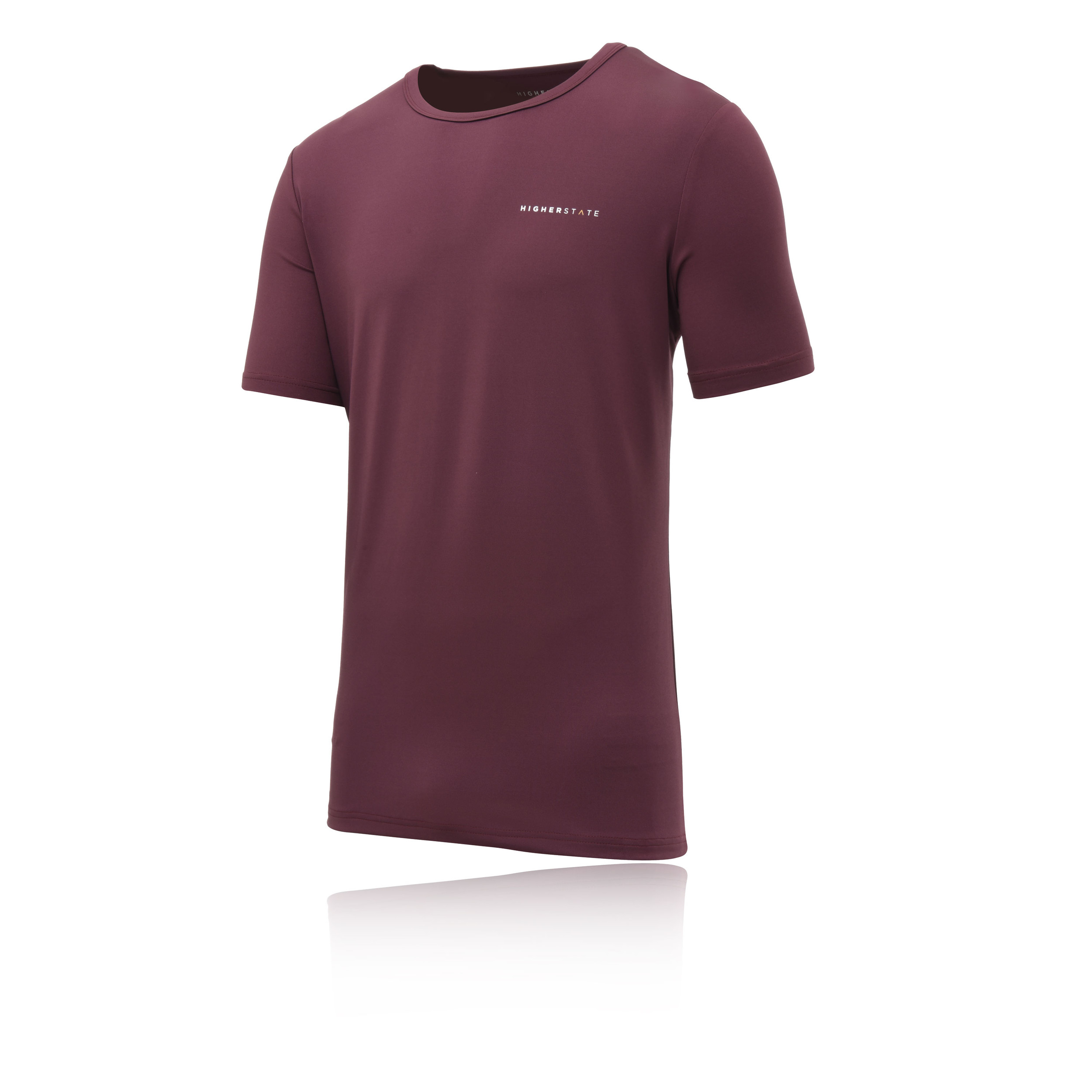 Higher State Mens SS Running Top Purple Red Sports Gym Breathable Lightweight