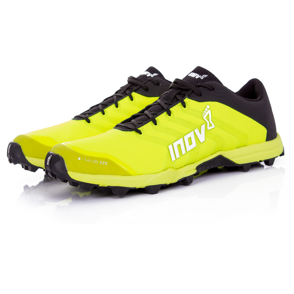 Inov8 X-Talon 225 Unisex Yellow Black Water Resistant Sports Shoes Trainers   3d02f6473fd