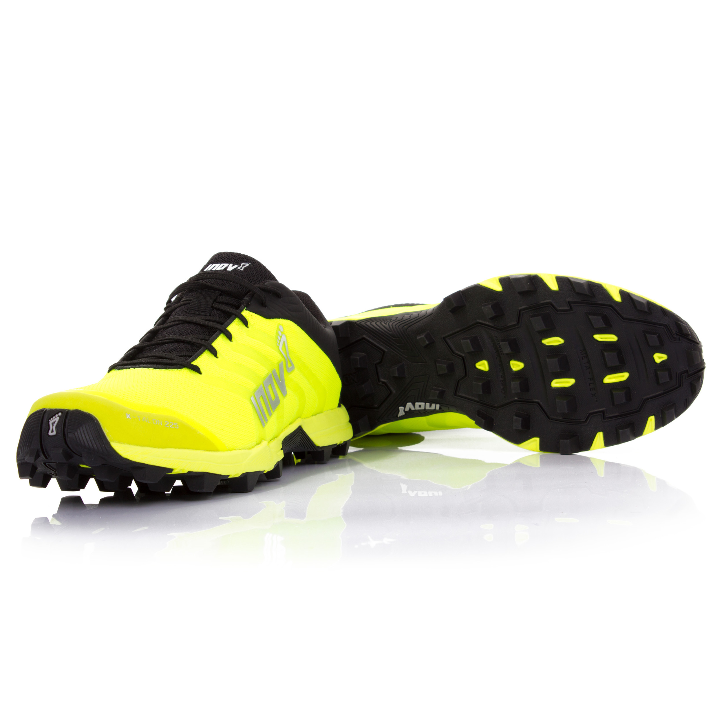 14a3ba0cb7a Inov8 X-Talon 225 Unisex Yellow Black Water Resistant Sports Shoes Trainers
