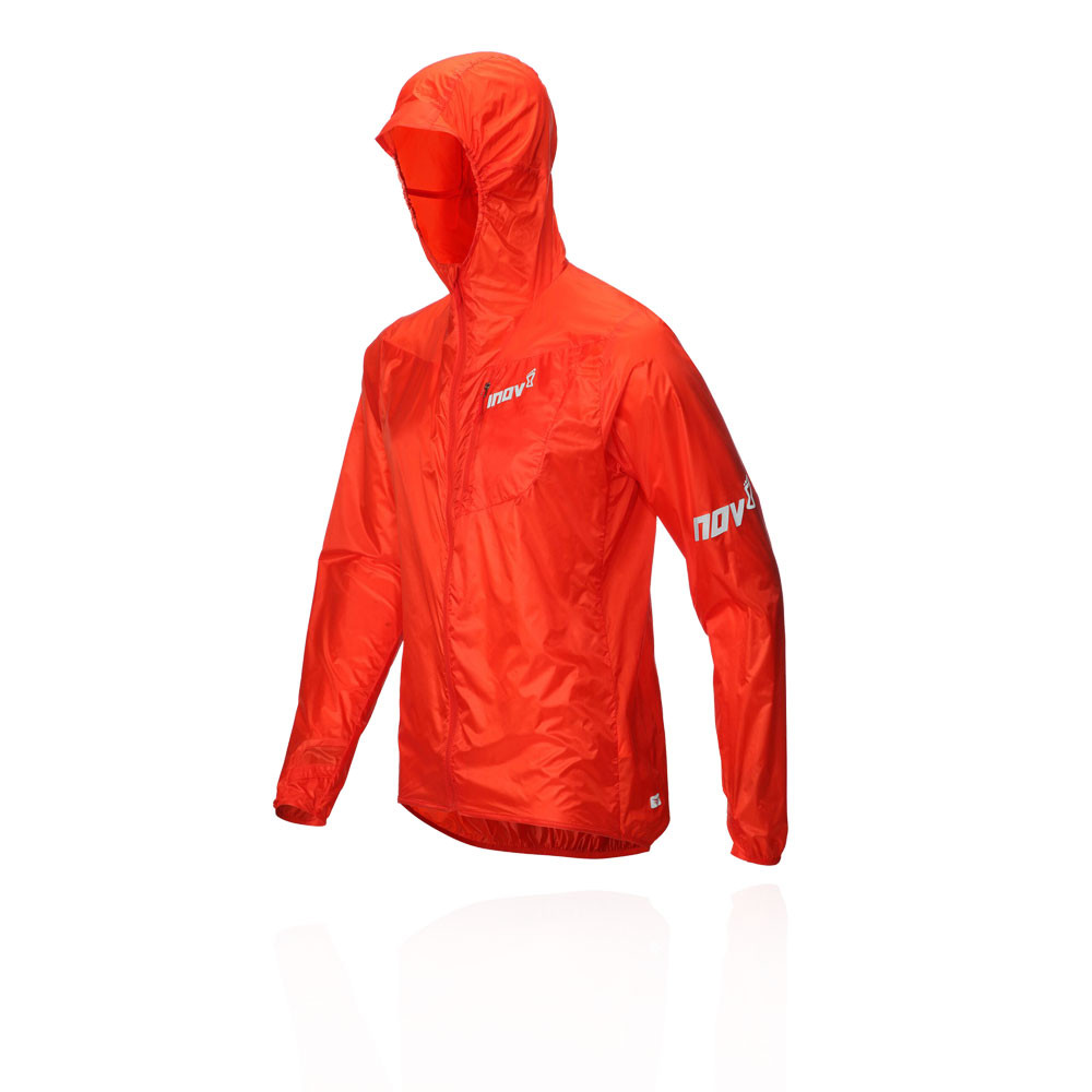Inov8 Hommes Blouson Windshell Zip Intégral Veste De Sport Blouson Hommes Top Rouge Jogging e58e29