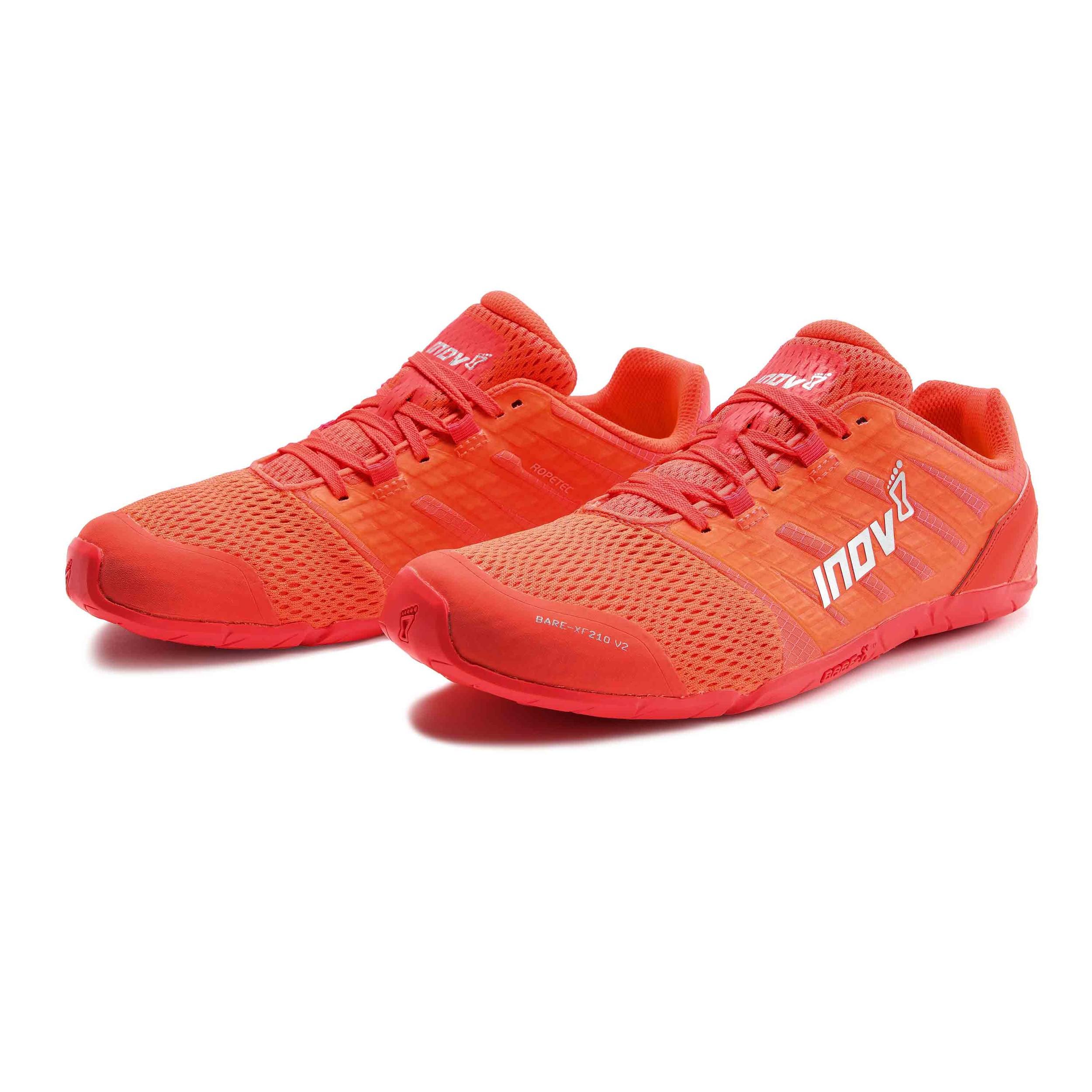 Inov8 Womens Bare Xf 210 V2 Training Gym Fitness Shoes Orange Sports Ebay