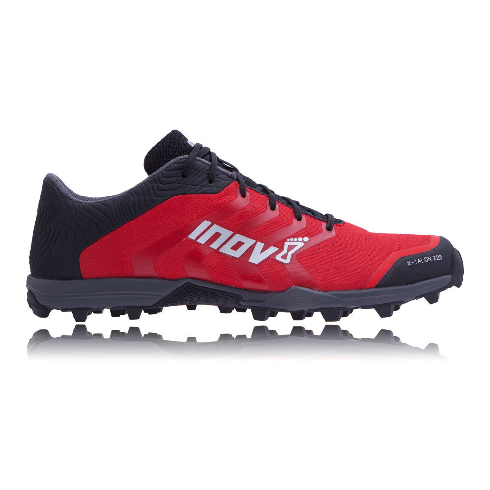ae4b508d9294 Details about Inov8 X-Talon 225 Unisex Red Black Water Resistant Trail  Running Shoes Trainers
