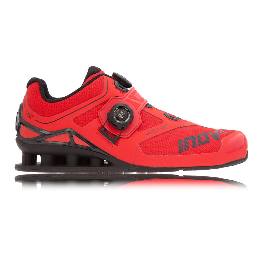 f3182bf8905 Inov8 Fast Lift 370 BOA Mens Red Black Weightlifting Sports Shoes ...