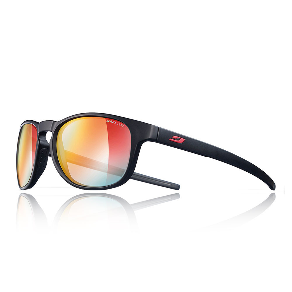 Julbo Unisex Resist Zebra Light Fire Sunglasses Black Red Sports Running 959a4a8562f1
