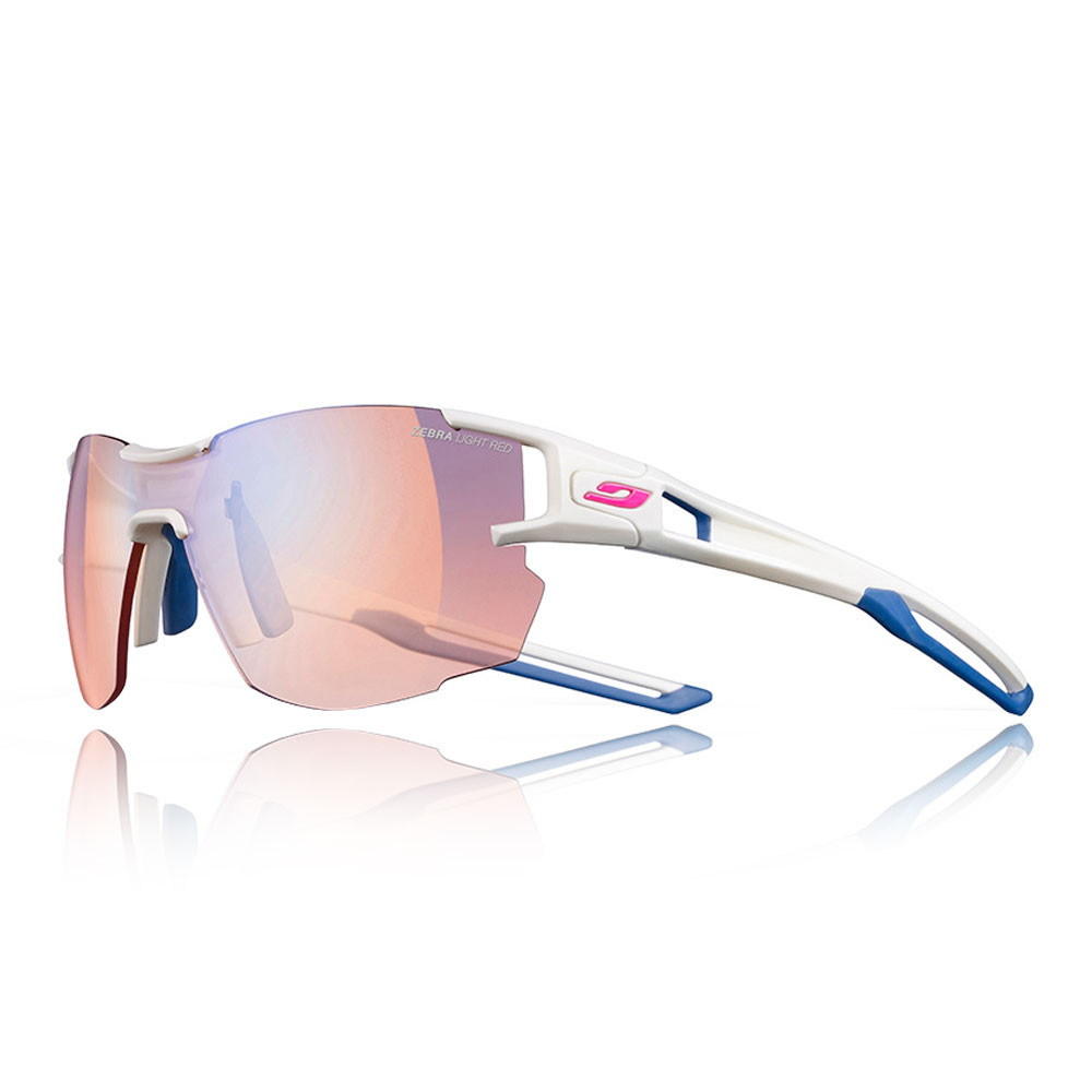 154ba20ef5 Details about Julbo Unisex Areolite Zebra Light Red Sunglasses Blue White  Sports Running
