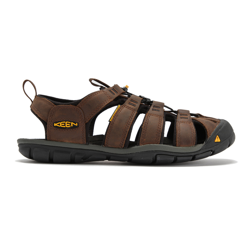 keen clearwater cnx herren leder trekkingsandalen wanderschuhe sandalen braun ebay. Black Bedroom Furniture Sets. Home Design Ideas