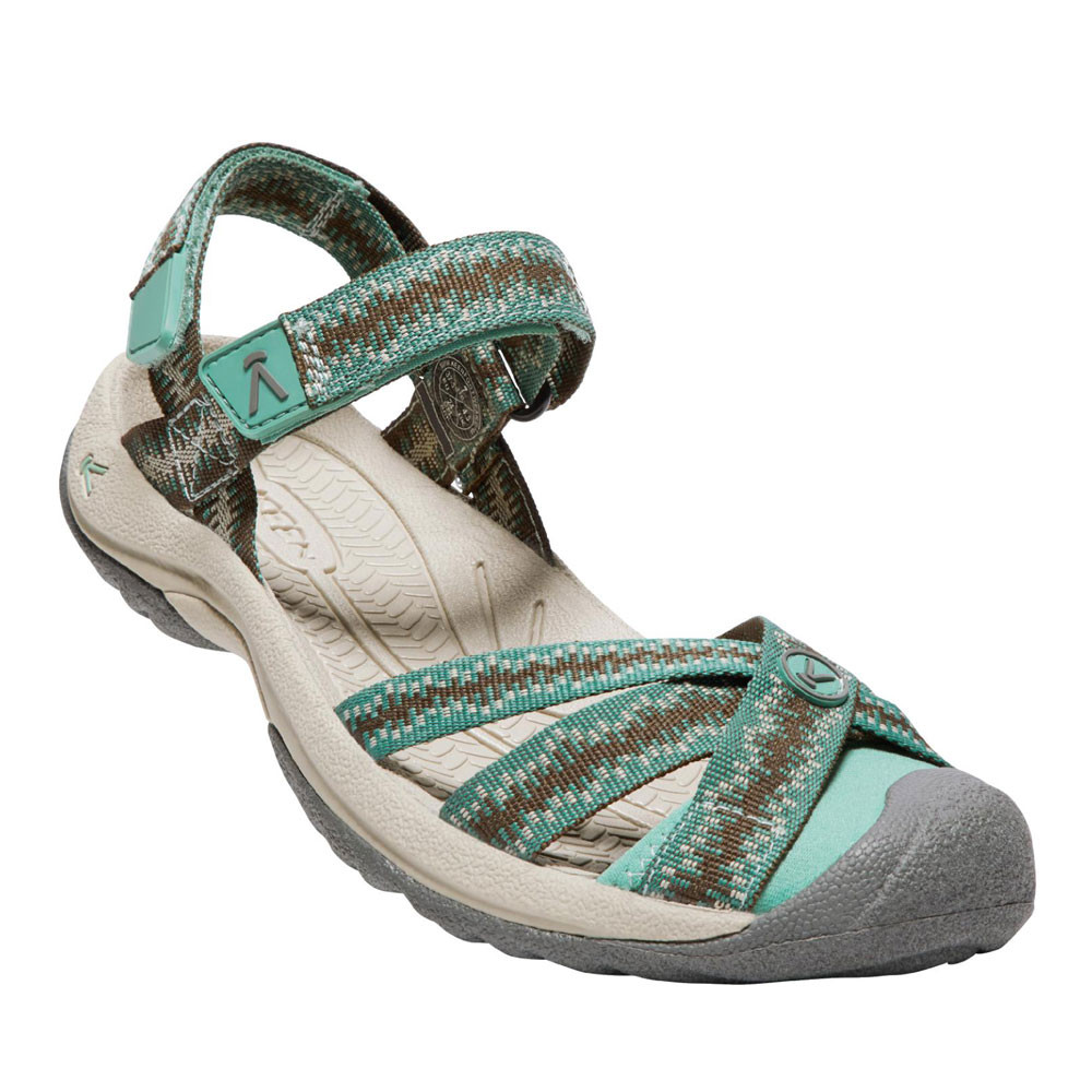 e3f121dc5d25 Keen Bali Strap Womens Brown Blue Outdoors Walking Hiking Sandals ...