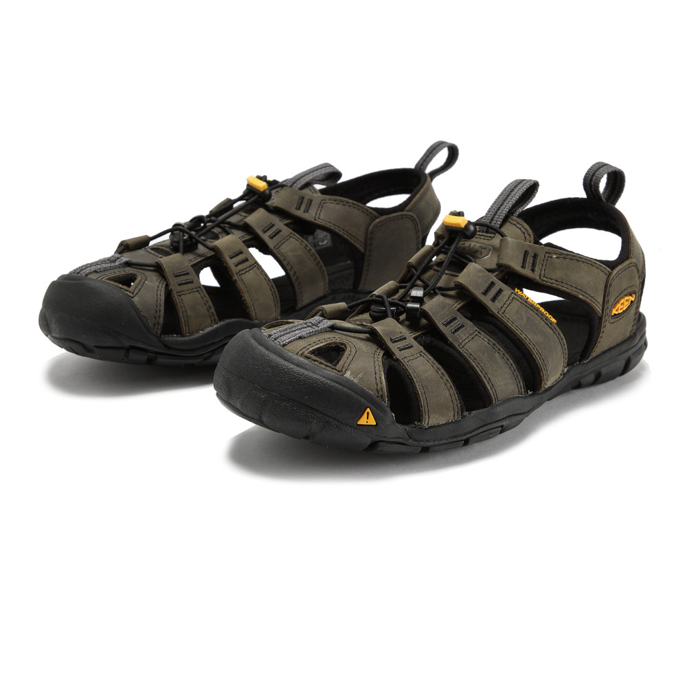 keen clearwater cnx herren leder trekkingsandalen wanderschuhe sandalen schwarz ebay. Black Bedroom Furniture Sets. Home Design Ideas