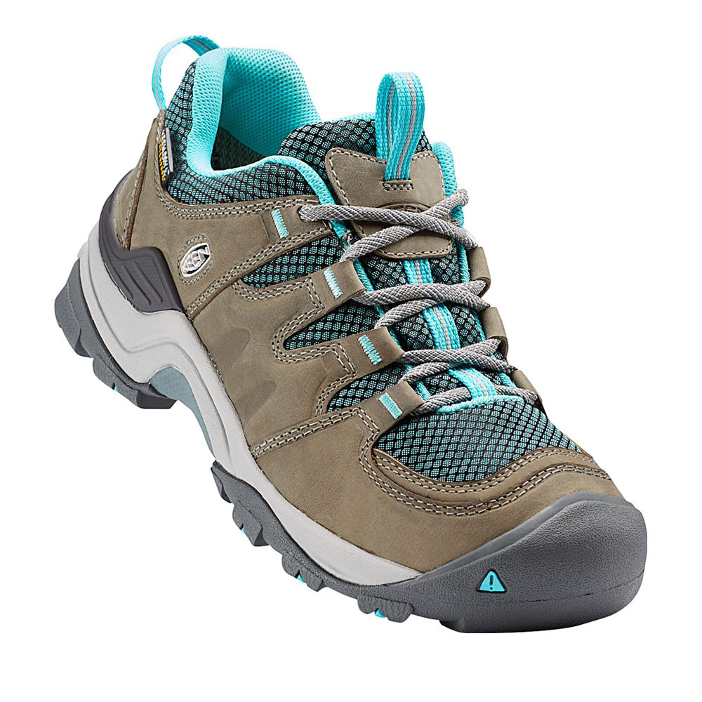 Keen Gypsum II Damenschuhe Braun Blau Waterproof Outdoors Walking Camping Schuhes