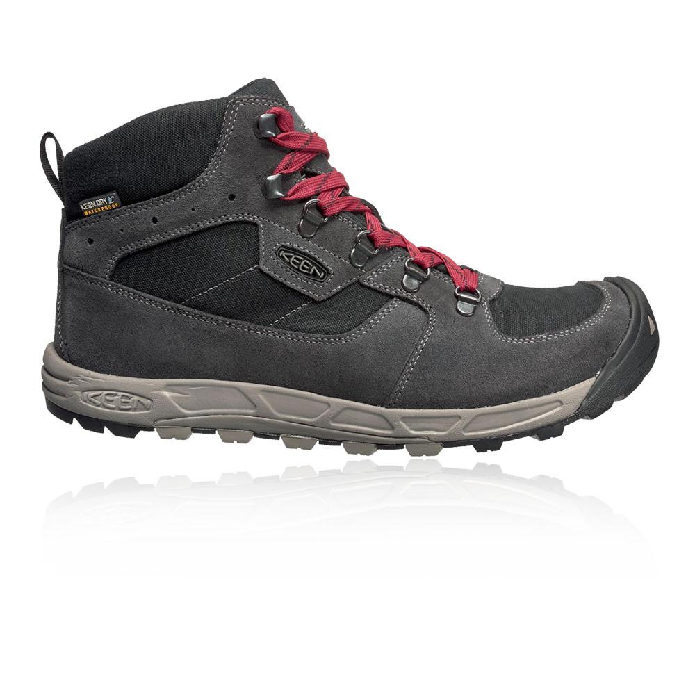 Keen Westward Mid Uomo Nero Grigio Impermeabile Scarpe Stivali Stivali Stivali Da Passeggio Campeggio 8ed229