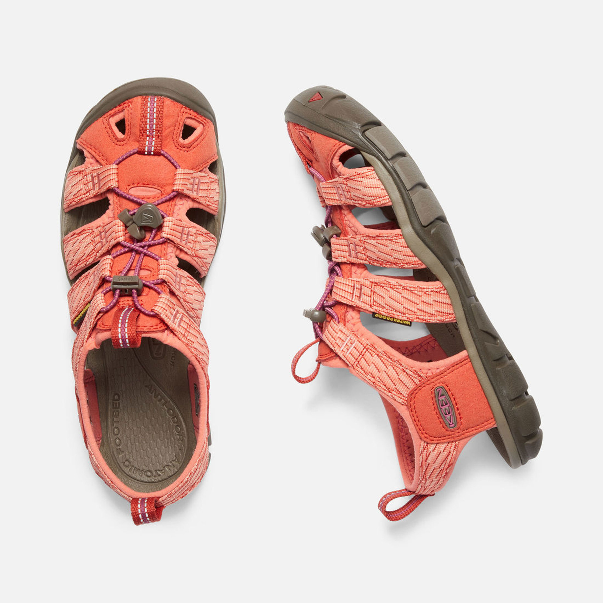 e38fff78ed4 Keen Mujer Clearwater Cnx Caminar Sandalias Naranja Deporte Exterior Calzado