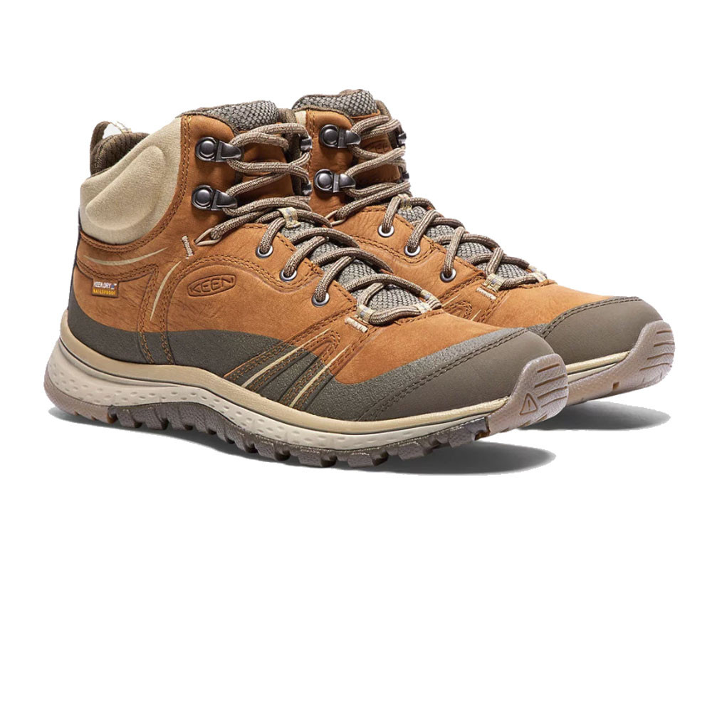 fad620f4b6c Details about Keen Womens Terradora Leather Mid Walking Shoes Sand Sports  Outdoors Trainers