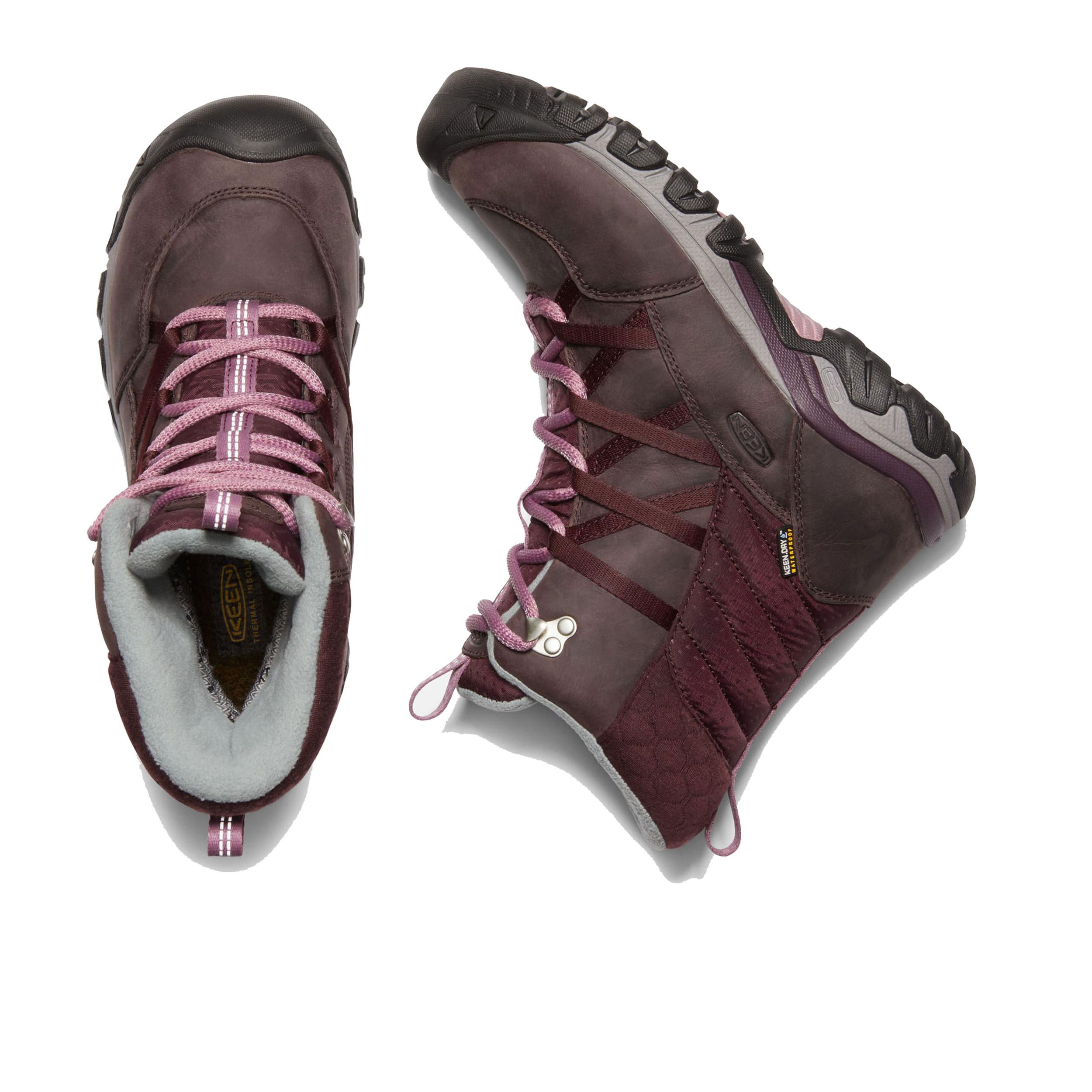 12222a50b5 Keen Womens Hoodoo III Lace Up Walking Shoes Pink Purple Sports Outdoors  Warm