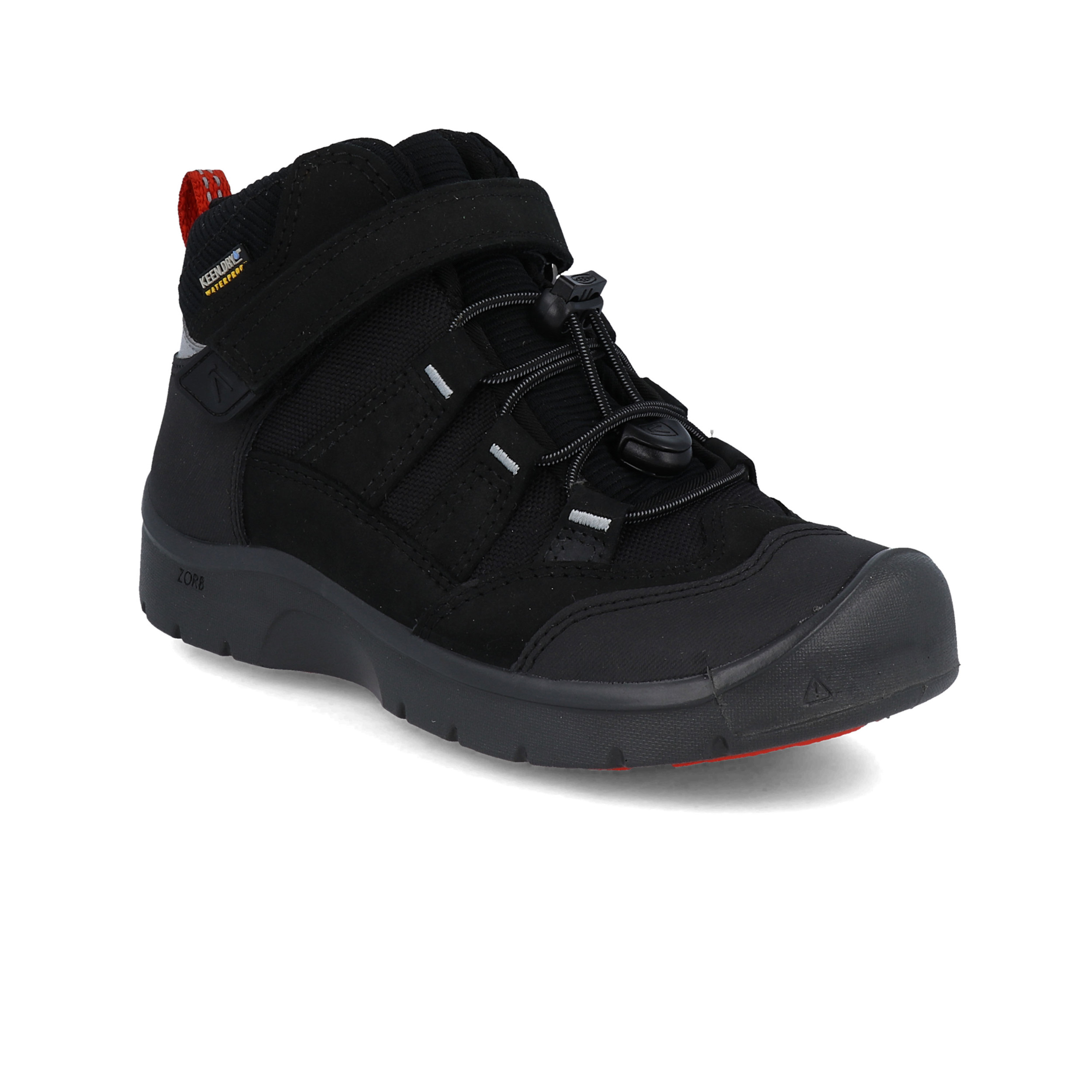 Keen Boys Hikeport Waterproof Walking Shoes Black Sports Outdoors Breathable