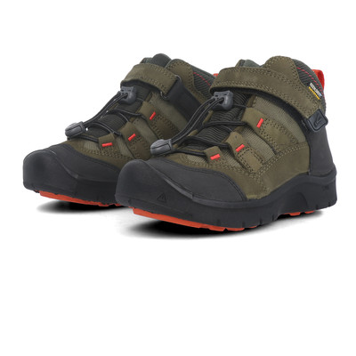 Keen Hikesport Mid Junior Blue Red Waterproof Hiking Walking Shoes Boots