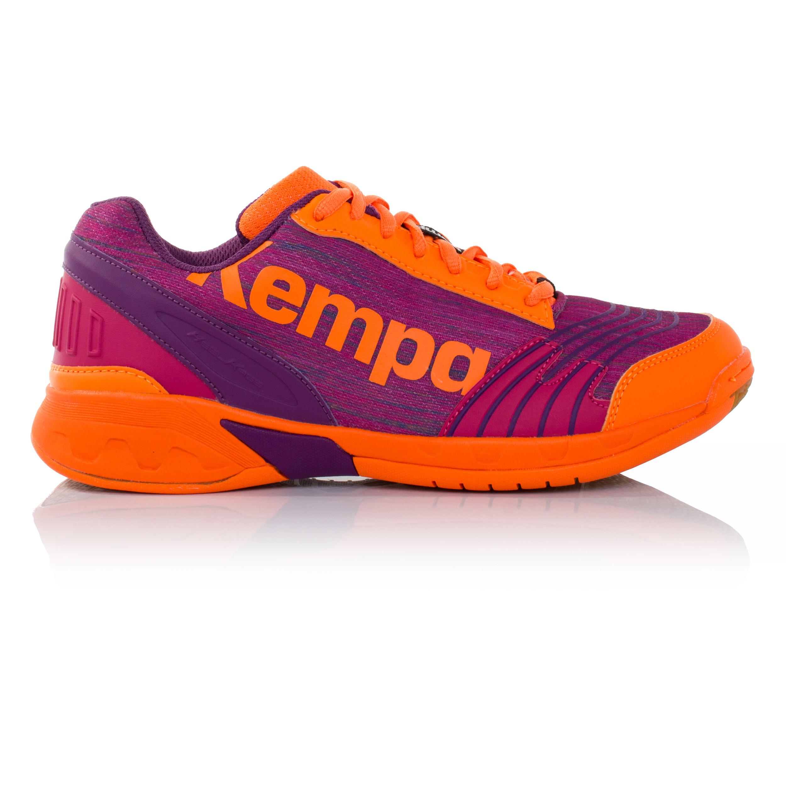 online store dde70 35802 Kempa Attack Mujer Naranja Violeta Balonmano Corte Deporte Zapatos  Zapatillas