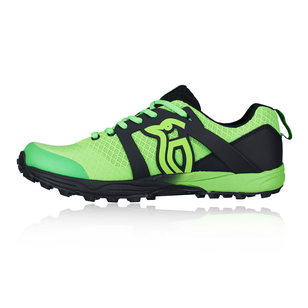 Kookaburra Mens Ricochet Hockey Shoes Pitch Field Black Green Trainers
