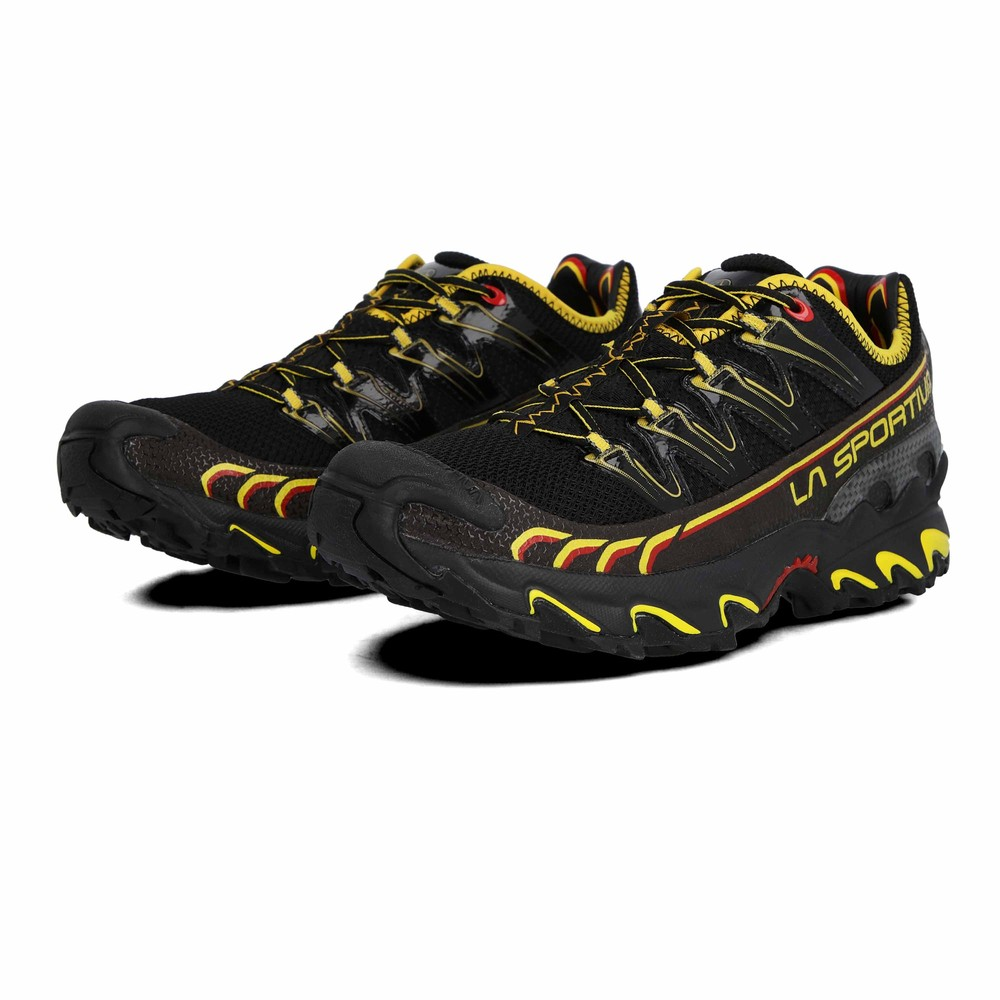 a8cb57231bfc La Sportiva Mens Ultra Raptor Black Fell Trail Running Trainers Pumps Shoes