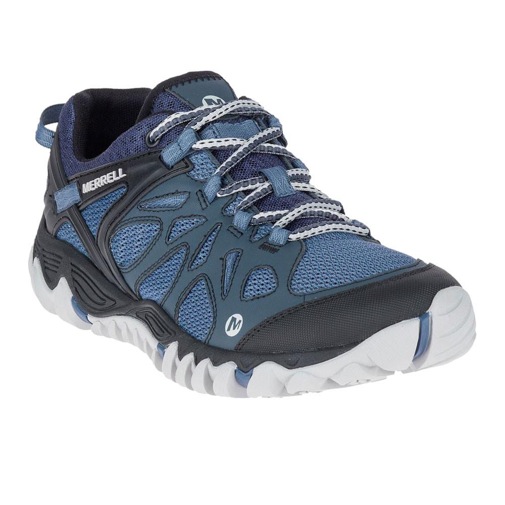 Merrell Mens All Out Blaze Aero Sport Walking Shoes Blue Navy Sports  Outdoors